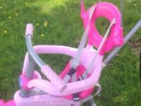 Kids Trike bike - With Parent Handle in Pink
