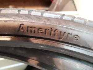 2 pneus de vélo rigide , sans tube
