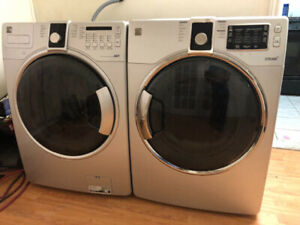 Kenmore metallic grey front load washer electric dryer stackable