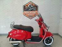 2006 Piaggio Vespa GTS250 in red with extras.