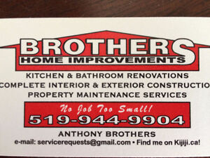 Brothers Home Improvements/ Insurance contracts/ BATHROOMS Windsor Region Ontario image 1
