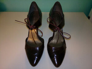 Kelvin Klein Leather Burgundy Shoes