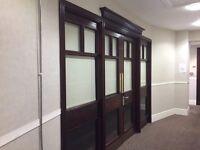 Beautiful solid door system