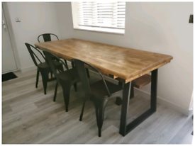 Bespoke handmade dining tables and benches