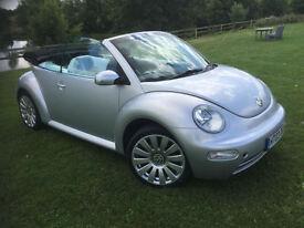 2003 Volkswagen Beetle 1.6 2004 MY CONVERTIBLE HPI CLEAR NEW MOT