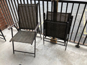Two chairs for balcony or camping