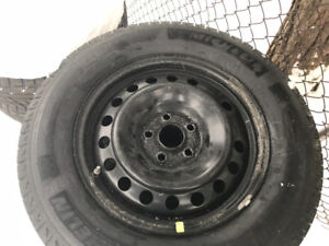 Winter Michelin 245-65-17 snows on honda rims Brand New!! $600