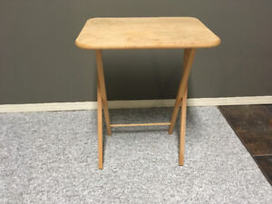 3 real wood TV tables