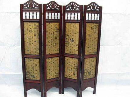 Oriental 4 panels wooden room divider  Was  $199  Now $139 Browns Plains Logan Area Preview