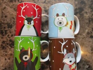 4 Piece Mayfair & Jackson Coffee/Hot Chocolate Mug set.