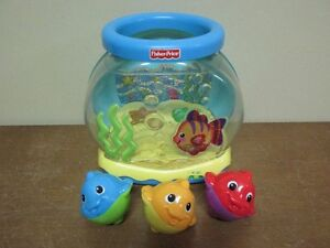 Petit aquarium sonore lumineux...ET SES 3 POISSONS D'ORIGINES