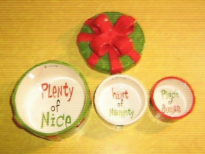 Christmas Package Themed Ornament - Stacking Measuring Cups