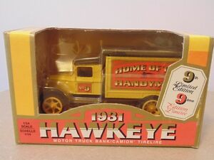 ERTL 1931 Hawkeye Motor Truck Bank Home Hardware Limited Edition