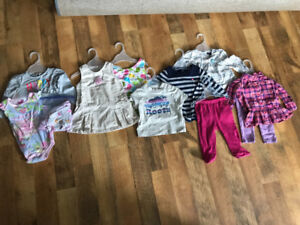 Baby girls clothes lot various sizes 9mo - 2T