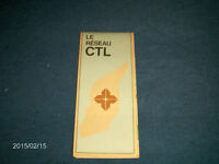 1982 C.T.L. LAVAL TRANSPORT BUS-MAP & GUIDE-COLLECTIBLE!