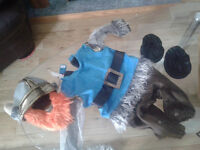 viking costume size large ,fits 12 - 24 month old