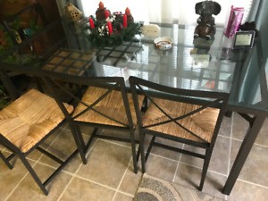 Beautiful Glass dining table.
