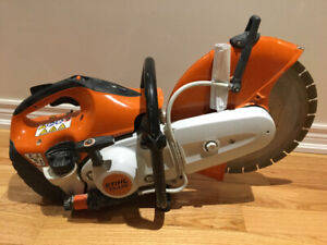 Stihl ts 420 quick cut/concrete saw couple of months old w/ rec