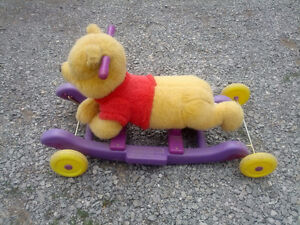Winnie the pooh on wheels or converts to a rocker