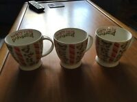 3 Barley twists mugs. Perfect condition.