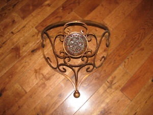 Wrought iron wall holder