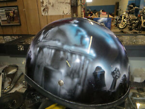 Custom painted used Helmet