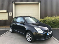 (57) 2007 Suzuki Swift 1.3 91bhp GL 3dr Hatchback Petrol Black Ideal First Car
