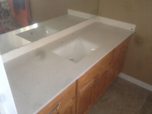 White Quartz top using as Desk top, Tv Stand many other things.. London Ontario image 8