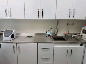 DENTAL EQUIPMENT -LAB CABINETS AND WORKBENCH