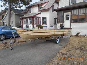 For Sale 14 foot Aluminum Boat Motor and Trailer