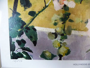 "Hand S/N by Peter Etril Snyder ""Hollyhocks By The Fence"" 16/500 Stratford Kitchener Area image 6"