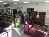 We pick up gently used furniture donations, local not for profit