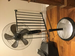 Fan, multi speed with adjustable height