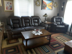 Leather Couch and Chair XX NEW PRICE XX