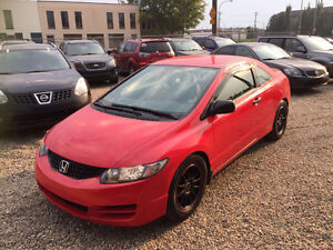 2009 HONDA CIVIC COUPE VERY CLEAN ONE YEAR WARRANTY