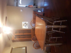 Dining table with chairs and Buffet