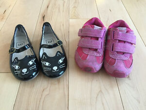 2 pairs girls size 7 shoes