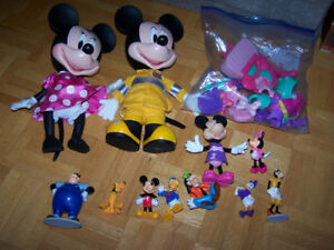 MICKEY MINNIE MOUSE COLLECTION- figures and 2 dolls