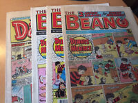 Beano and Dandy comics from 1980s/early 1990s