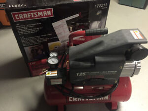 compresseur Crafstman  1 hp 3 gallon 125 psi comme neuf