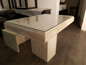 Marble Table and Side Stands