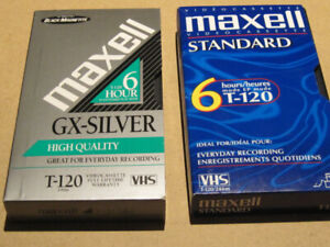 Maxell T-120 6 Hour VHS Video Tapes