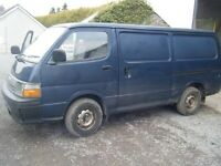 OLD SHAPE HIACE WANTED ANYTHING CONSIDERED