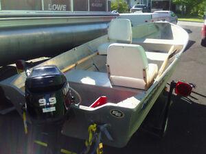 boat motor & trailor