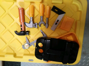 Toddler tool box and tools $8 takes