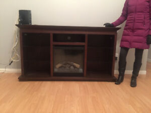 Large Fireplace with Glass Shelves