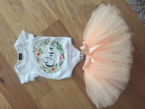 Girl 1st birthday decor and outfit
