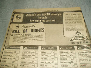 STEINBERG GROCERY STORE AD OF FEB. 1973 West Island Greater Montréal image 3