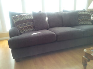 Grey Chenille Sofa with Queen size Sofabed