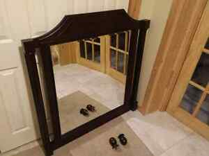 Dresser Mirror, Brown Beautiful mirror could be used on wall or